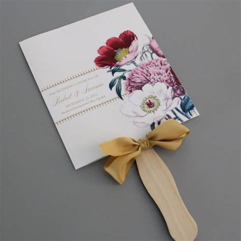 fan invitation template free wedding program fan template