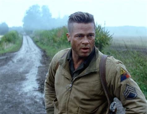 army haircut fury screen shot brad pitt long on top haircut in fury