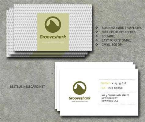 Name Card Templates Psd by Business Card Template Psd 22 Free Editable Files