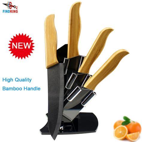 quality kitchen knives brands findking brand high sharp quality bamboo handle with black