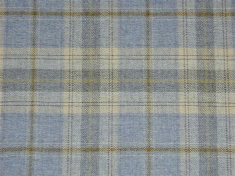 Wool Upholstery Fabric 100 Wool Tartan Plaid Cornflower Blue Fabric Curtain