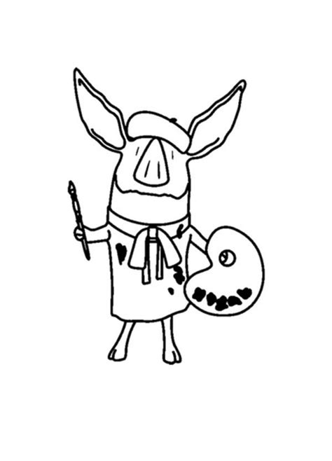 olivia pig coloring page olivia coloring pages to download and print for free