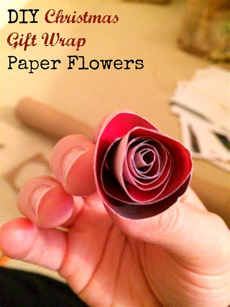 How To Make Flowers Out Of Wrapping Paper - diy gift wrap paper flowers mba sahm