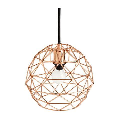 cage copper ceiling light habitat