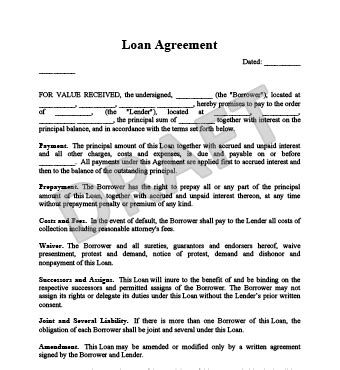 Simple Loan Agreement Template Loan Agreement Template All Form Templates Llc Member Loan Agreement Template