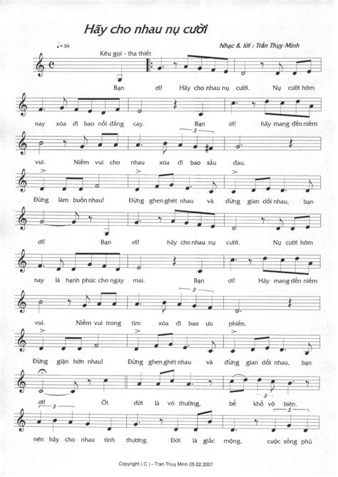 cho lyrics hay cho nhau nu cuoi 1 thuy minh s world of