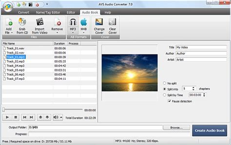 format of audio books converting m3u to mp3