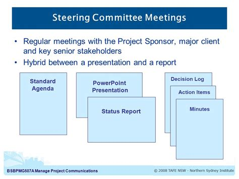Effective Meetings Meetings Are One Of The Major Forms Of Project Steering Committee Presentation Template
