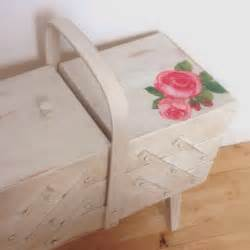 a world of imagination upcyled cantilever sewing box from orange pine to shabby chic