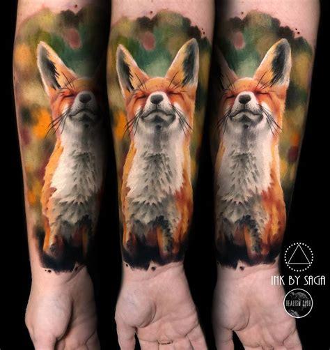 animal tattoo artists calgary fluffy fox on girls forearm best tattoo design ideas