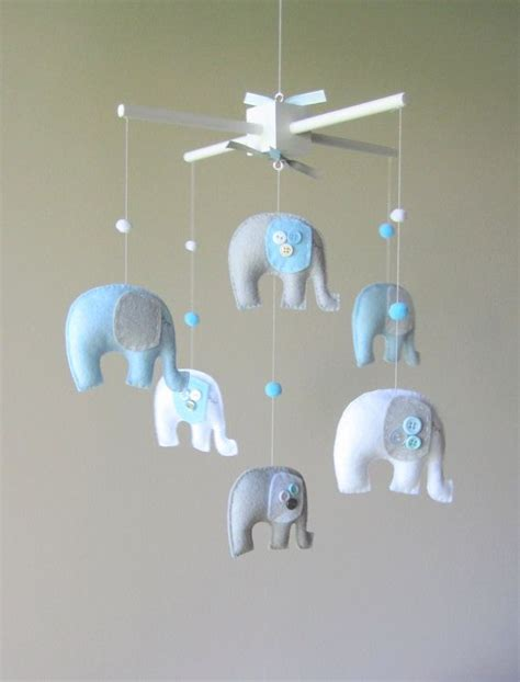 elephant mobile baby crib mobile nursery elephants baby mobile by