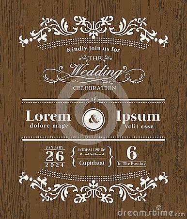 Wedding Font Corel by Vintage Typography Wedding Invitation Design Stock Vector