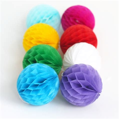 How To Make Tissue Paper Balls To Hang - 8cm 10pc tissue paper honeycomb balls hanging paper balls