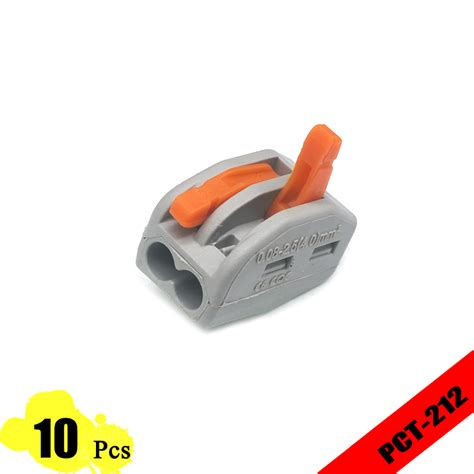 Wago 222 412 Universal Compact Wire Wiring Connectors 2 Pin 10 pcs lot wago 222 412 pct 212 universal compact wire wiring connector 2 pin conductor