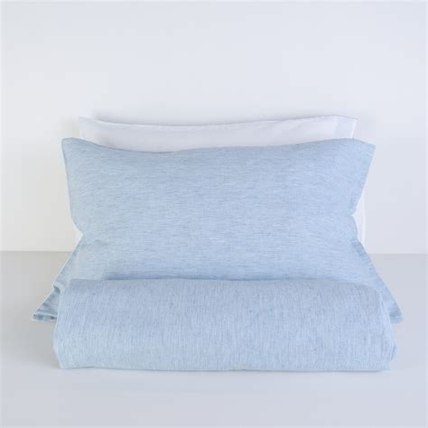 White And Turquoise Duvet Cover by Turquoise Striped And White Linen Blend Duvet Cover Set