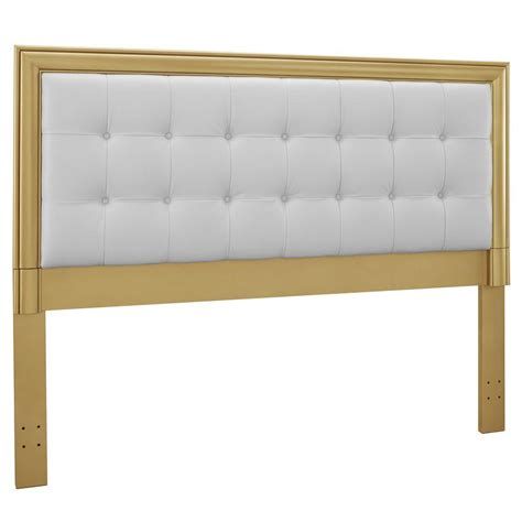 gold upholstered headboard pri upholstered queen headboard with gold frame in gold ds