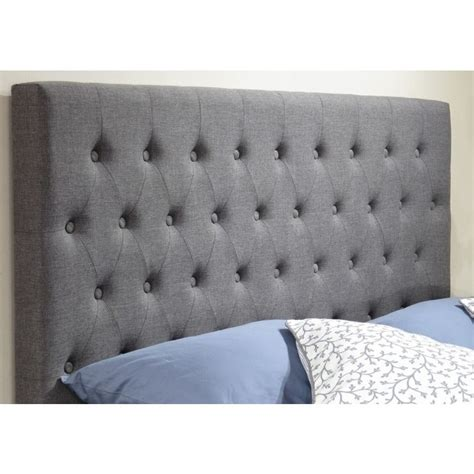 king headboard fabric norman ii king fabric bed head headboard in grey buy