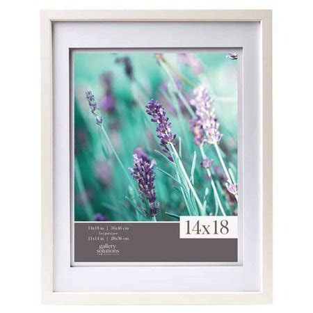 10 x 18 frame with mat gallery solutions 14x18 white wood wall frame with