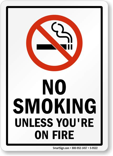 No Smoking Sign Funny | funny no smoking signs humorous no smoking signs