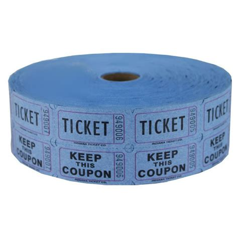 raffle tickets blue raffle ticket roll