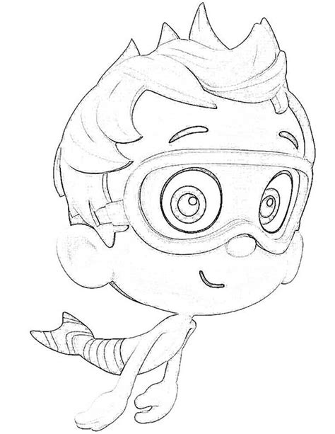 funny deema and nonny from bubble guppies coloring page learn how to draw deema from bubble guppies bubble