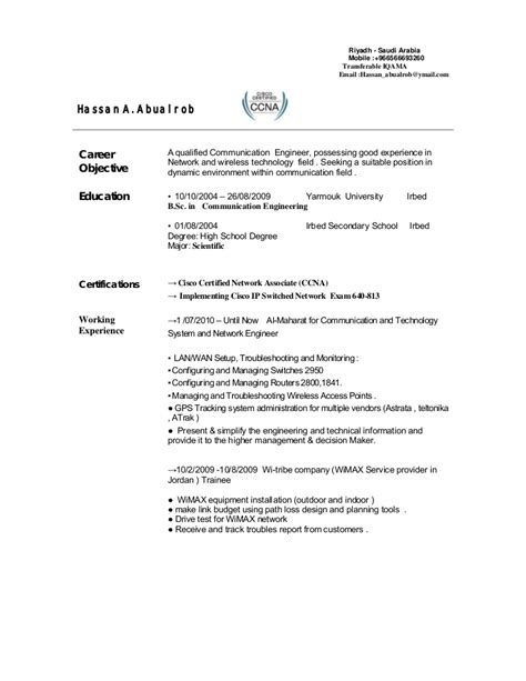 sle resume format for telecom engineers sle cv bts engineer image collections certificate design and template