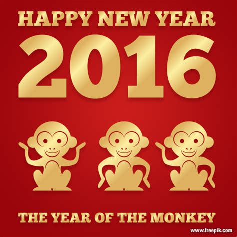 new year the year of the monkey new year year of the monkey