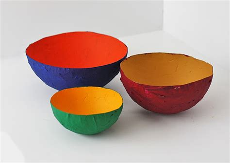 Paper Bowls - how to make a paper mache bowl munchkins and