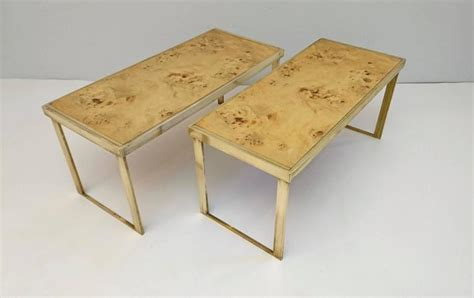 Multipurpose Coffee Table Multipurpose Italian Burl And Brass Shelf Coffee Table Or Side Table For Sale At 1stdibs
