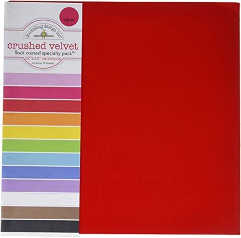 doodlebug velvet flock doodlebug specialty cardstock value pack 036851 dealtrend