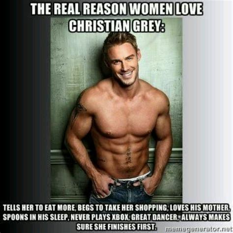 Hot Men Memes - christian grey perfect man but photo not good choice
