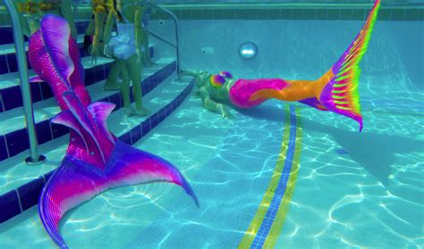 colorful mermaid tails colorful rainbow mermaid at live pool events