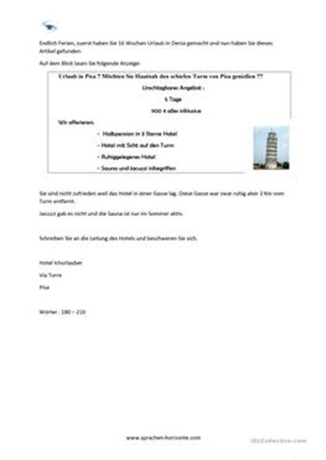 Beschwerdebrief Schreiben B1 12 kostenlose daf beschwerdebrief arbeitsbl 228 tter