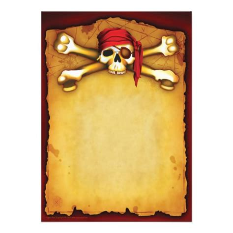 Pirate Birthday Card Template by Template Invitation Free Pirate