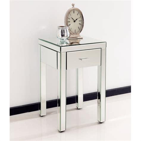 mirrored bedside table venetian bedside table
