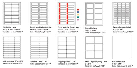 4 Quill Label Templates Divorce Document Quill Labels 30 Per Sheet Template
