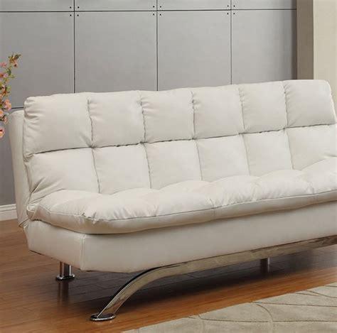 white futon sofa aristo futon sofa white