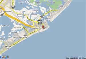 atlantic city us map map of rodeway inn atlantic city atlantic city