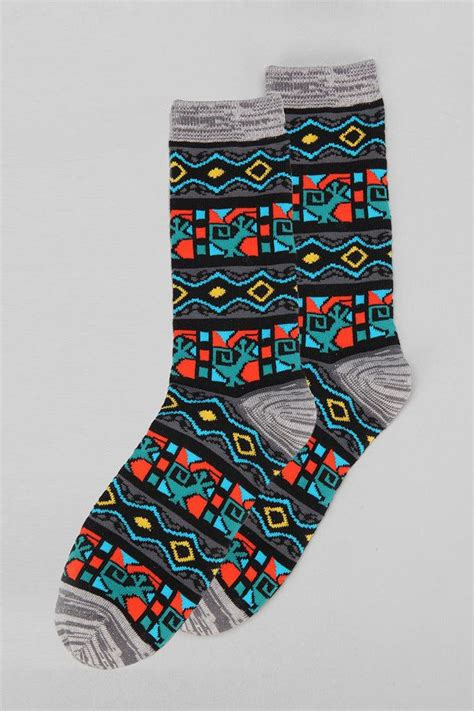 geo pattern socks urban outfitters geo pattern sock clothes