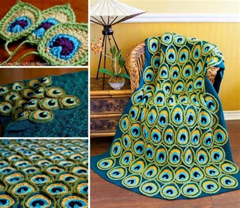 crochet motif pattern free how to crochet a peacock motif free pattern home