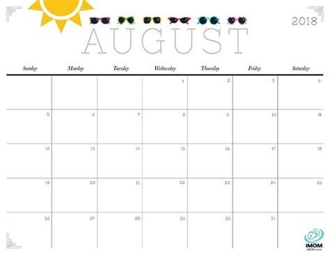 printable calendar imom 2018 cute august 2018 calendar printable journalingsage com