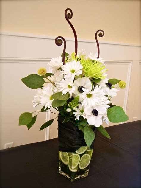 Lime Green Centerpieces Lime Green And White Centerpiece Weddings Lime Black