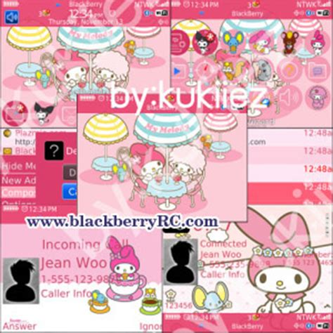 download themes hello kitty bb 8520 blackberry curve 8520 pink themes