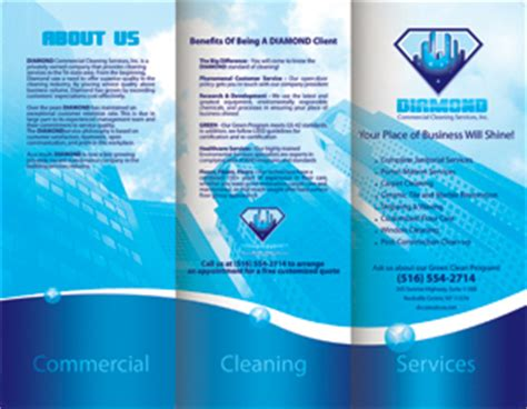 commercial cleaning brochure templates cleaning and janitorial brochures designed