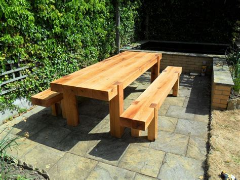 Garden Furniture Made From Railway Sleepers by Furniture From Oak Railway Sleepers