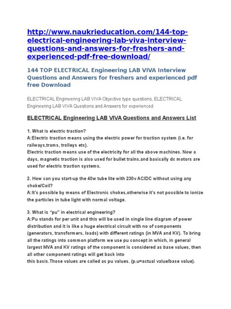 design lab vtu viva questions electrical machines 1 lab viva questions and answers pdf