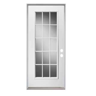 15 Light Exterior Door Lite Steel Entry Door With 14 In Sidelites H31368