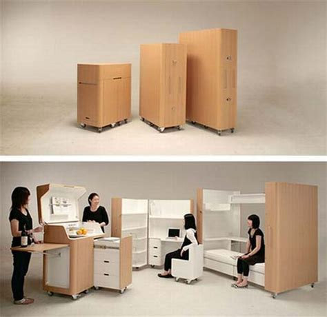 Lemari Compacto space saving furniture kenchikukagu freshome
