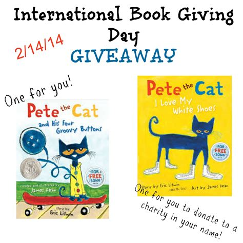 Cat Giveaway - pete the cat giveaway growing book by book