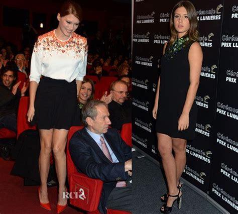 lea seydoux red carpet fashion awards lea seydoux adele exarchopoulos in miu miu prix